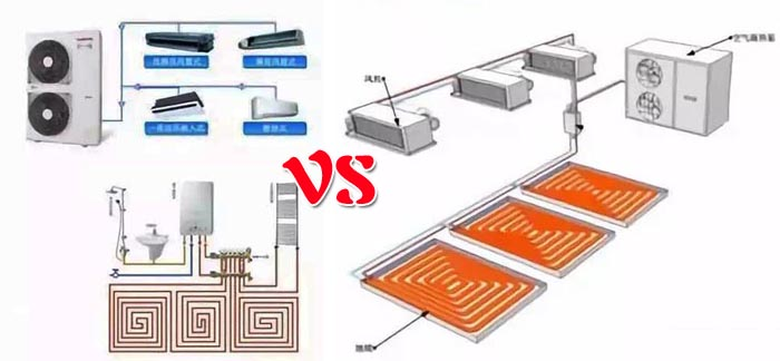 水舒士出品   比较空调地暖二合一与多联机,各有什么优缺点?