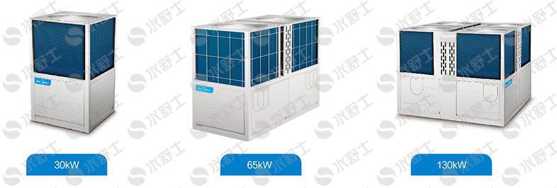 美的LSQWRF30/65/130KW风冷模块机有哪些型号?有哪些技术参数?